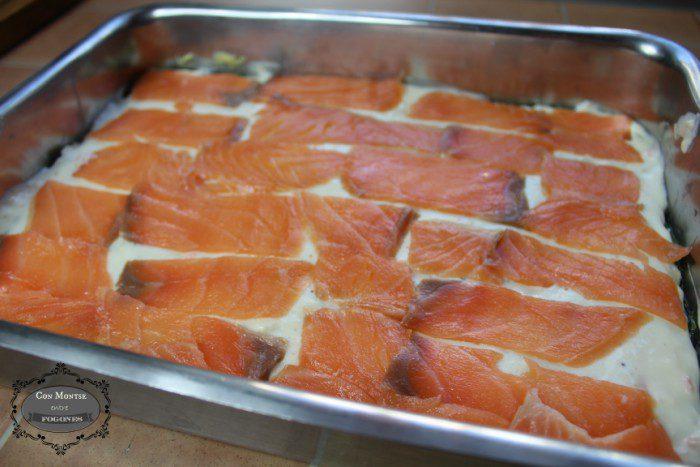 Lasaña de salmón ahumado y espinacas 11